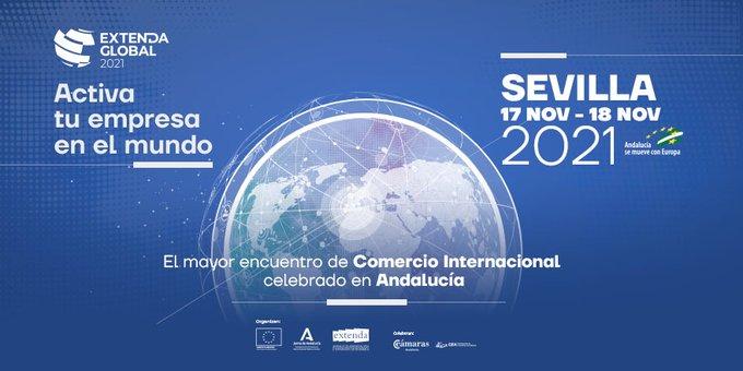 Extenda Global será presencial. El 17 y 18 de noviembre en Sevilla