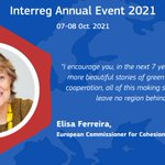 """A 2nd priority for the new programming period? The digital revolution⏩""""The digital adventure has far more for us to explore in coming years-from teleworking to digital business""""  📣Above all """"let's make sure no region is left behind! That's what cohesion is about!"""" #Interreg2021"""