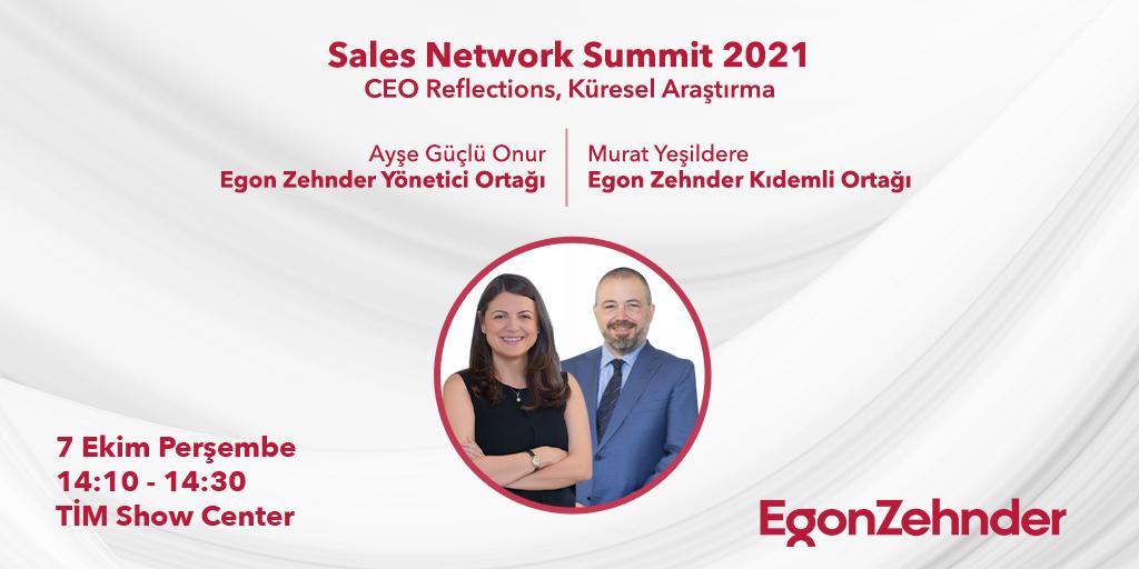 Egon Zehnder Yönetici Ortağı Ayşe Güçlü Onur ve Kıdemli Ortağı Murat Yeşildere, 'CEO Reflections, Küresel Araştırma' oturumunda konuşmacı olarak Sales Network Summit'in konuğu oluyor! Bugün 14:10'da gerçekleşecek oturumu takip etmek için: bit.ly/3BjK3es #EgonZehnder