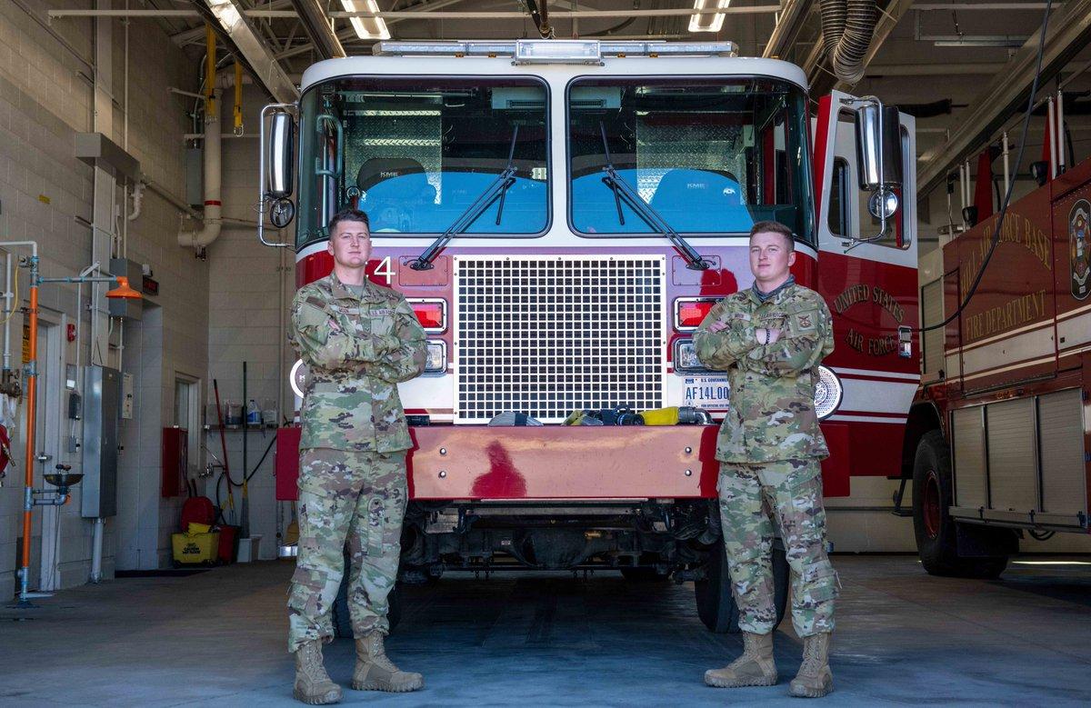 Serving together, brothers bond as AF Reserve firefighters. #ReserveResilient afrc.af.mil/News/Article-D…