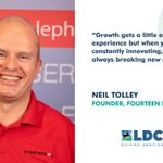 Neil Tolley, Founder of Fourteen IP, has been named as one of LDC Top 50 Most Ambitious Business Leaders for 2021. The programme celebrates the inspiring leaders behind some of the UK's most successful and fast-growing firms. Fourteen IP is one of Mercia's portfolio companies.