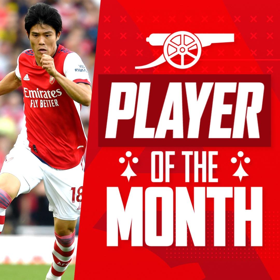 Voici notre joueur du mois de septembre... Takehiro Tomiyasu
