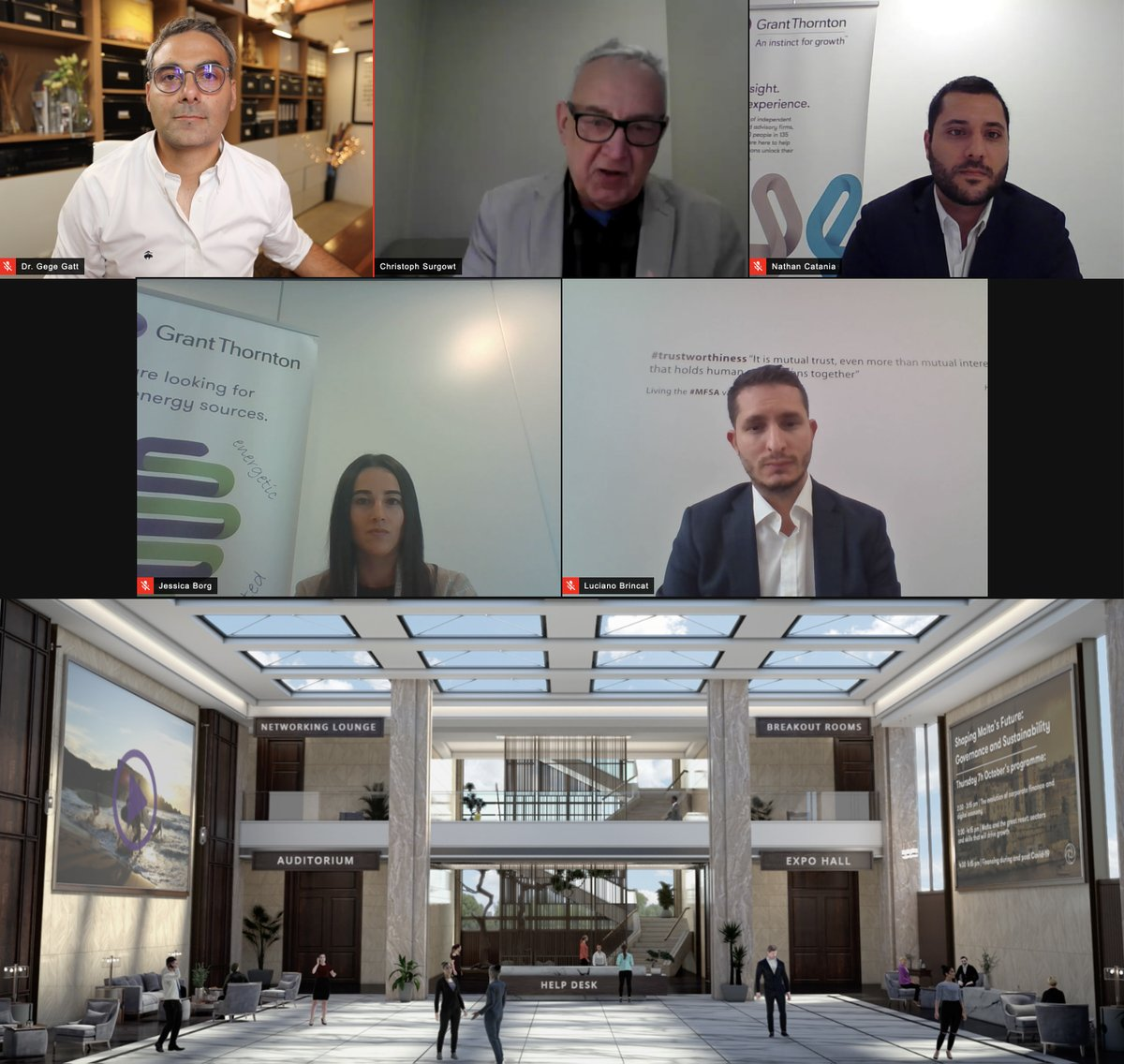 Earlier today I addressed @GrantThorntonMT's 'Shaping Malta's Future' virtual conference. It was great to have many avatars in the auditorium & real-humans on the panel 🙂 I covered the work that @EBO_ai is doing in the #fintech space & how AI augments human capability.