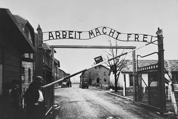 The absolute howling disrespect the anti vax crowd pull by using the yellow Star of David. I was considering putting Holocaust victims up, but have the Auschwitz road entrance instead 😡