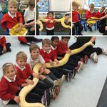 Reception had a hissssterical time with @RepTylers today. They learnt all about reptiles and were even allowed to hold an Albino Burmese Python. Ssssssssso much fun! #copthorneprep #schoolvisit