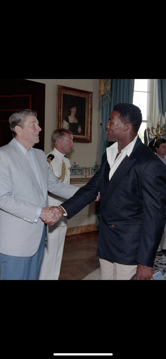 #TBT What a memorable day and an honor to visit the White House and meet with a true patriot, President Ronald Reagan and First Lady Nancy Reagan. President Reagan made us proud of our country and put America FIRST! 🇺🇸