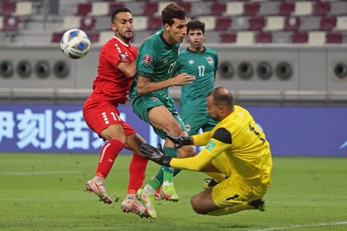 التعادل السلبي يحسم لقائ العراق ولبنان في تصفيات اسيا لكأس العالم