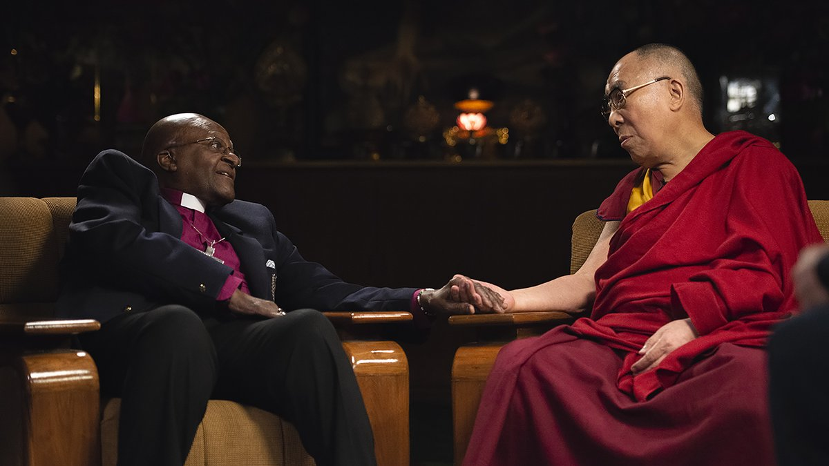 HHDL sends 90th birthday greetings to Archbishop Desmond Tutu followed by a short talk on compassion in his message to the 11th Annual Desmond Tutu Peace Lecture on October 7th, 2021.