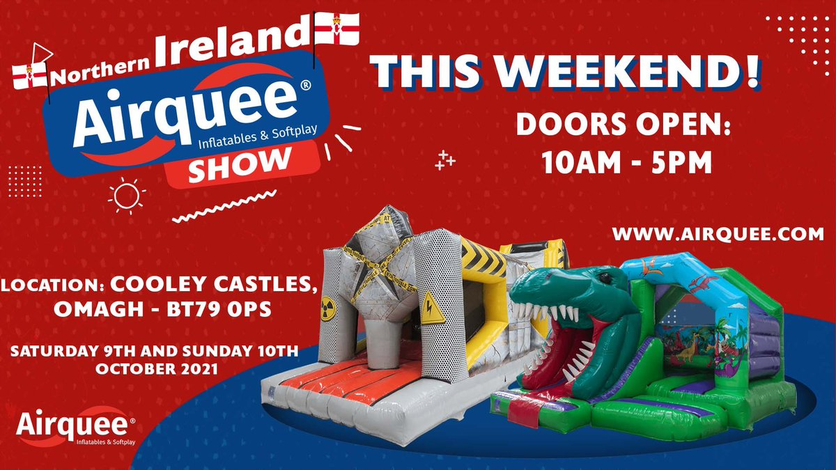 Don't miss Airquee's upcoming show!🎉 🔜This Saturday and Sunday❗️ 📌Cooley Castles, OMAGH - BT79 OPS Doors open: 10AM-5PM We're looking forward meeting you!