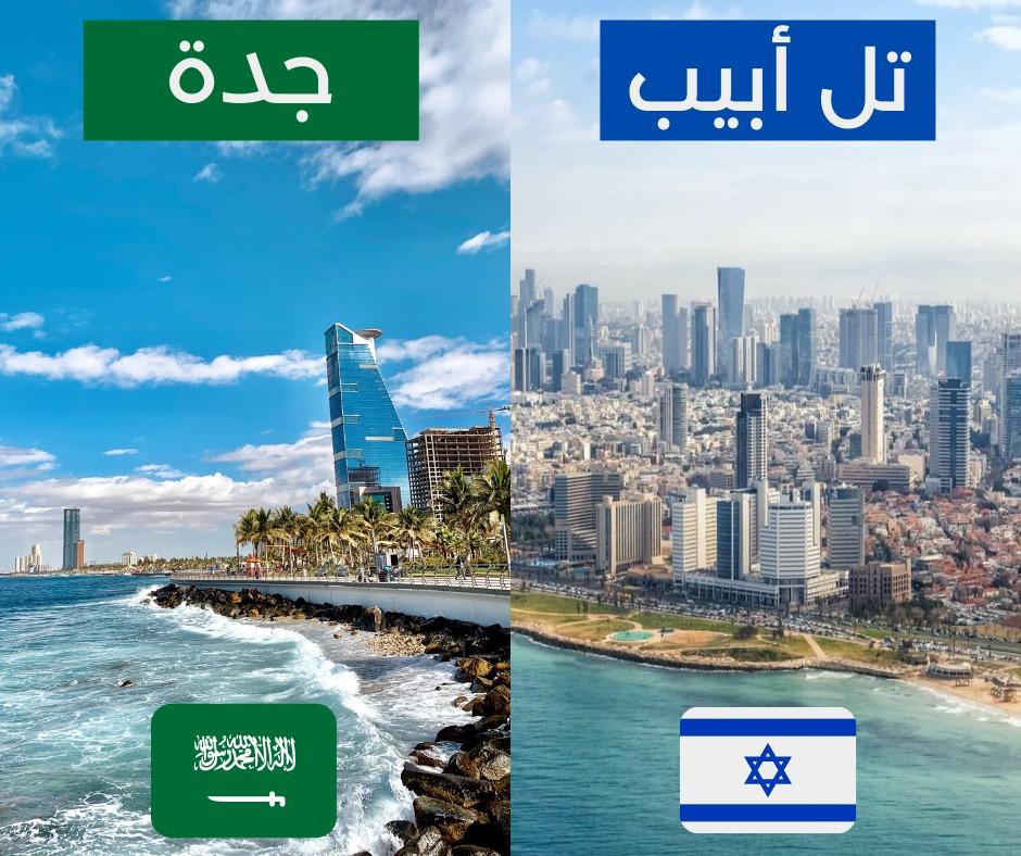 ما أجملهما  واحدة تطل على البحر المتوسط  والثانية على البحر الأحمر  الأولى هي تل