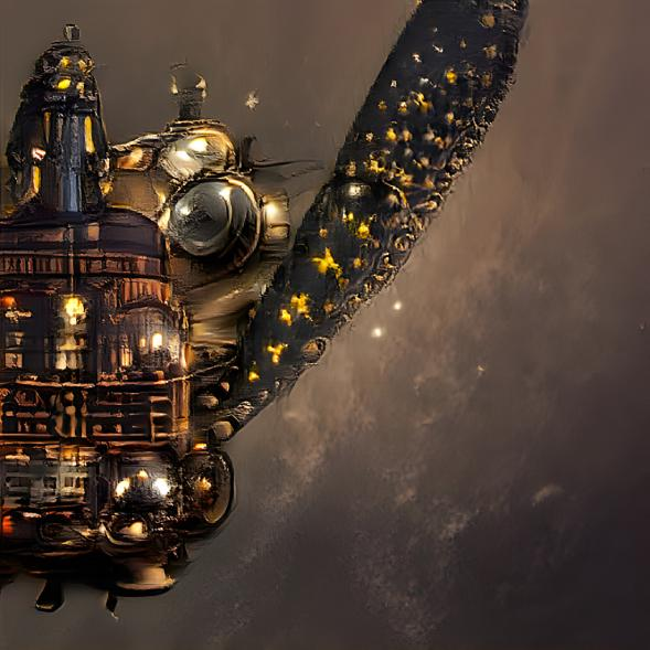 What do you think of my #Steampunk spaceship?