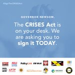 Image for the Tweet beginning: #CRISESAct is on the @CAgovernor's