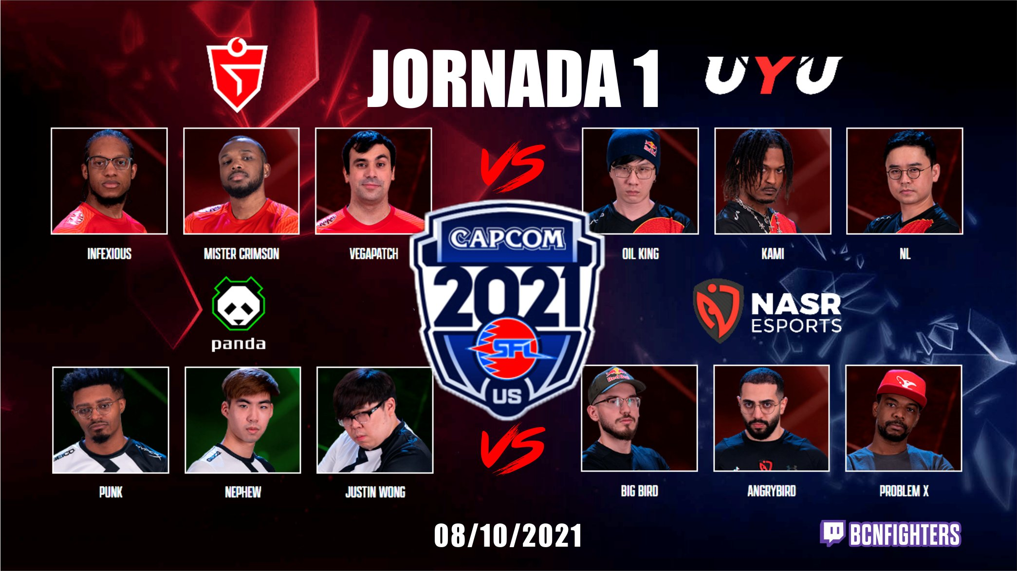 Primera jornada de la Street Fighter League