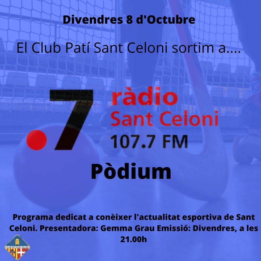 Moltes gràcies per formar part de la familia @punt7radio a través de Pòdium! Benvinguts a aquesta nova temporada 😄 Força Hoquei!! Grans @club_pati!! 107.7FM https://t.co/2GoOnFqeSf