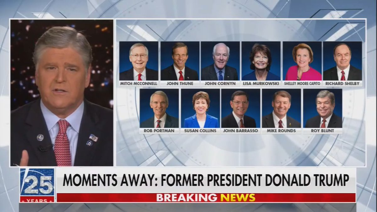 Hannity has a graphic of the 11 Republicans who voted to break the debt limit deal filibuster