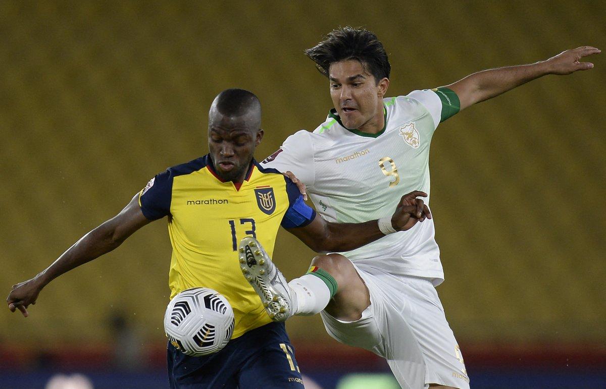 """CONMEBOL.com on Twitter: """"¡Ganó la Tri! 🇪🇨👏 Ecuador goleó 3-0 a Bolivia 🇧🇴 en una ráfaga tempranera y continúa prendido en los puestos de clasificación ✓ 🇪🇨 3 🆚 0 🇧🇴 ⚽🇪🇨"""