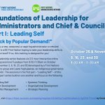 Image for the Tweet beginning: Foundations in Leadership for Administrators