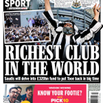Image for the Tweet beginning: Back page of the @Daily_Express