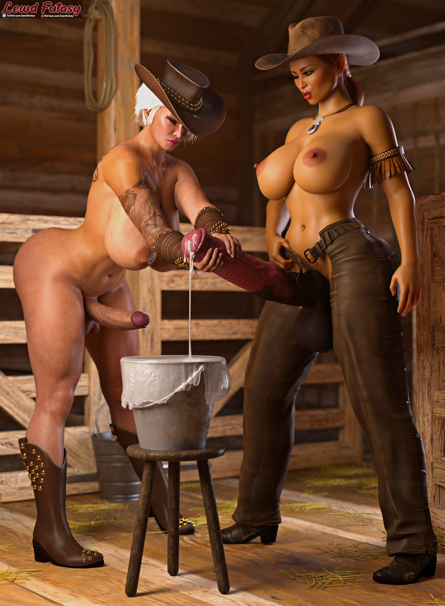 It's #FutaFriday! 🤩🤩🤩 To celebrate some cowgirl pictures 🤤 Yeehaw! 1) Cowgirls Malika and Naomi 2) Jacky is ready for Betty-Lou and Betty-Ann 3) Kelly drains Betty-Ann Enjoy and happy FutaFriday! #NSFW #Futanari #Futa
