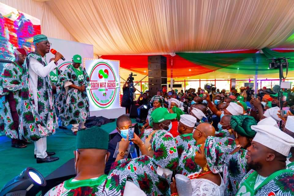 Time For The Hopeless Nigerians To Enslave Themselves Again,As Sanwo-Olu Inaugurates Pro-Tinubu Campaign Group