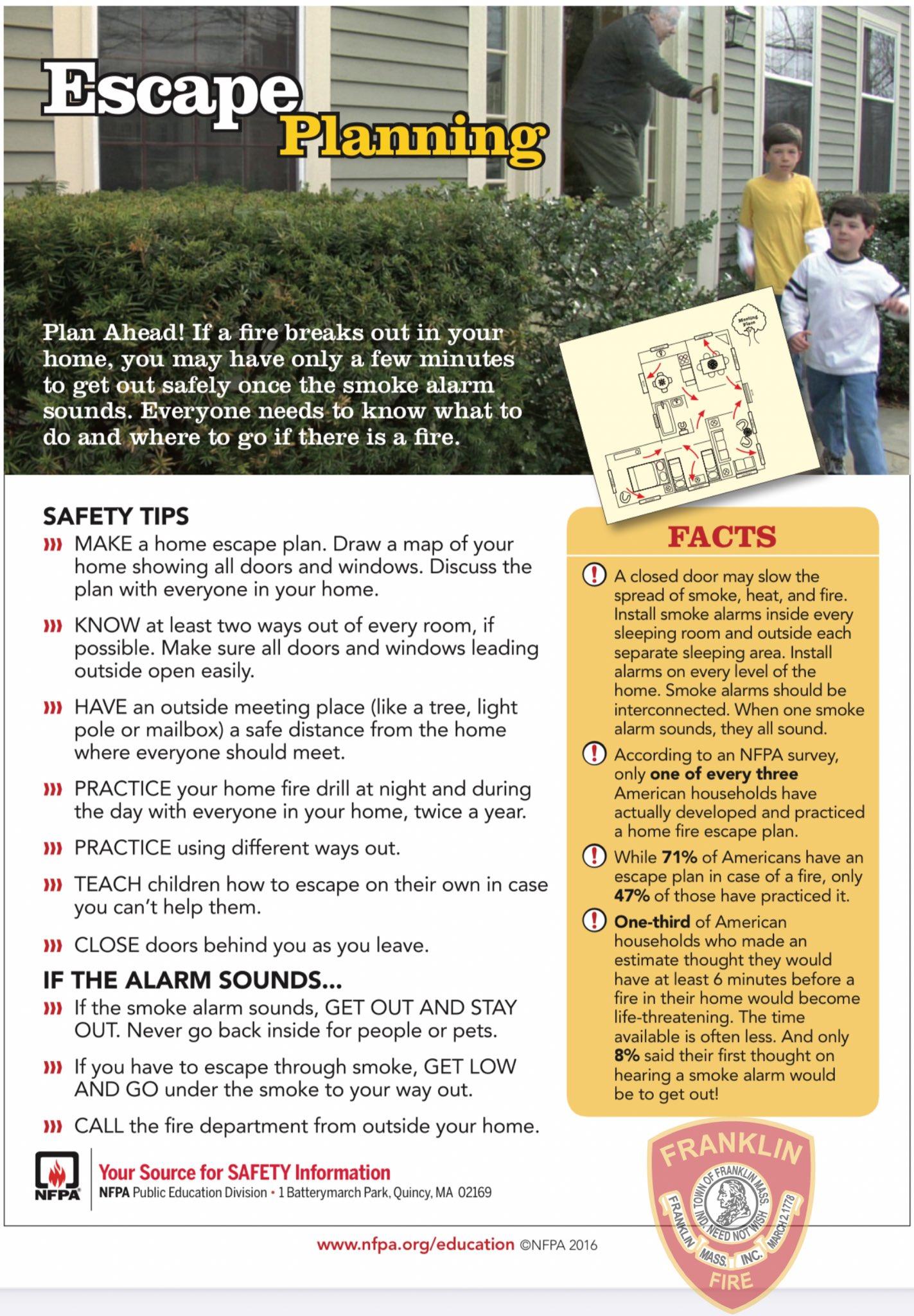 Franklin Fire SAFE Program - Practice your home escape plan