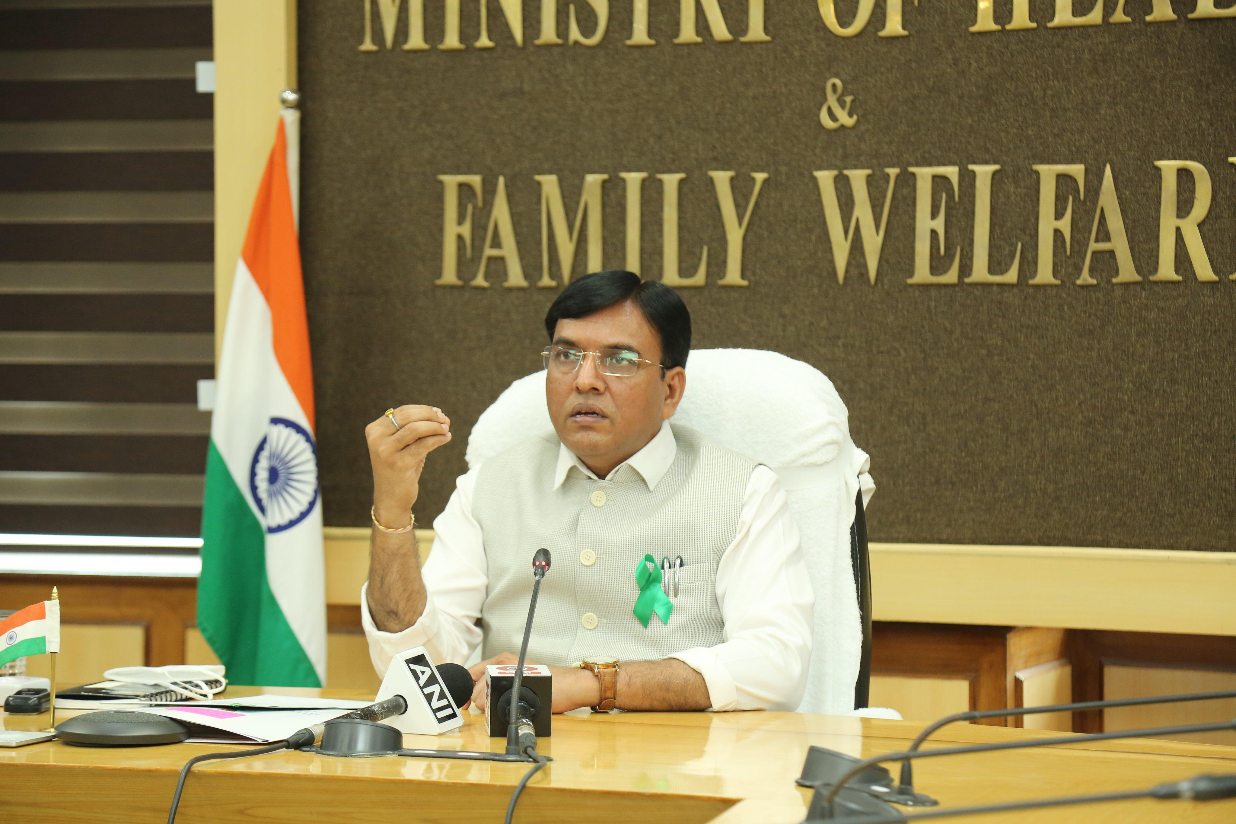 केन्द्रीय स्वास्थ्य मंत्री ने 19 राज्यों के प्रधान सचिवों और राष्ट्रीय स्वास्थ्य मिशन के निदेशकों के साथ कोविड स्थिति की समीक्षा की