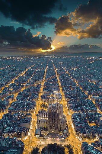 Beautiful sunset in Barcelona-Spain🇪🇸