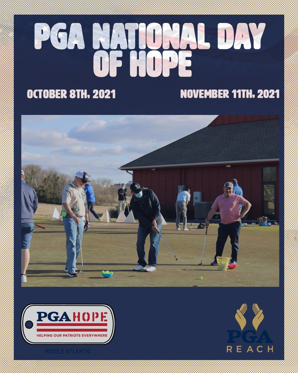 Spread the word! We are raising funds for PGA HOPE Middle Atlantic!