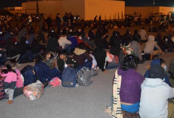 Migrantes auxiliados en Tamaulipas