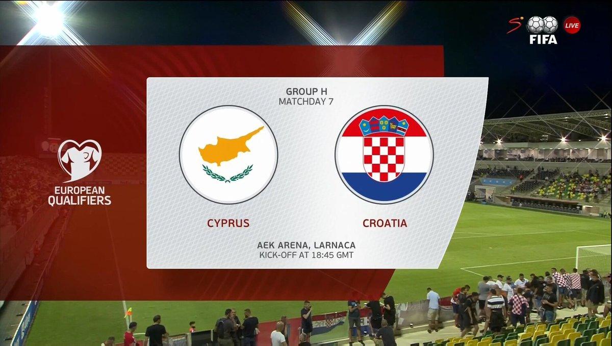 Full match: Cyprus vs Croatia