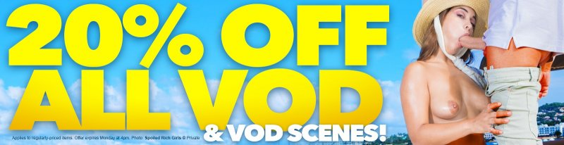 Looks like she's got her mouth full with our 20% off VODs and Scenes sale! All weekend! 🎉 🎉 🎉 bit.ly/3ArKD8N