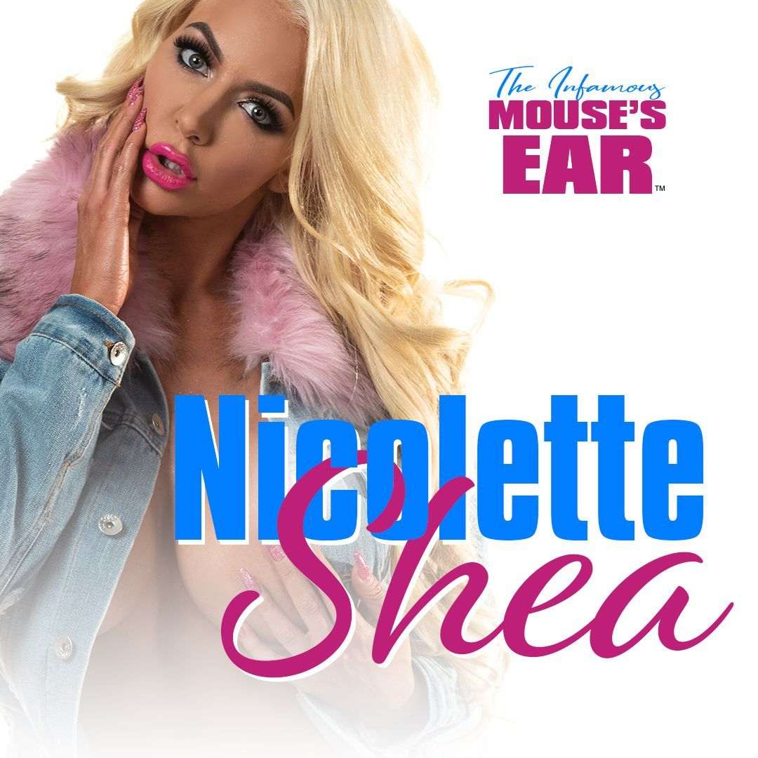 Are ya'll as excited as we are for Nicolette Shea? TONIGHT AND TOMORROW!   . .. . #SheaSquad #Sexy #Shea #Blond #Bombshell #Glamazon #Pink #TheMousesEar #Knoxville #StripJoint