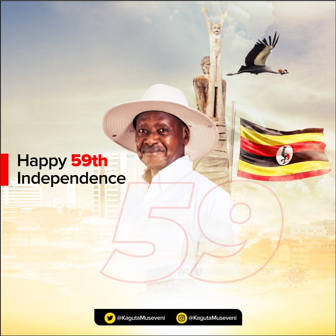 Elders (Abakadde), comrades, and abazukulu. A Happy Independence Day to you all. #UgandaAt59.