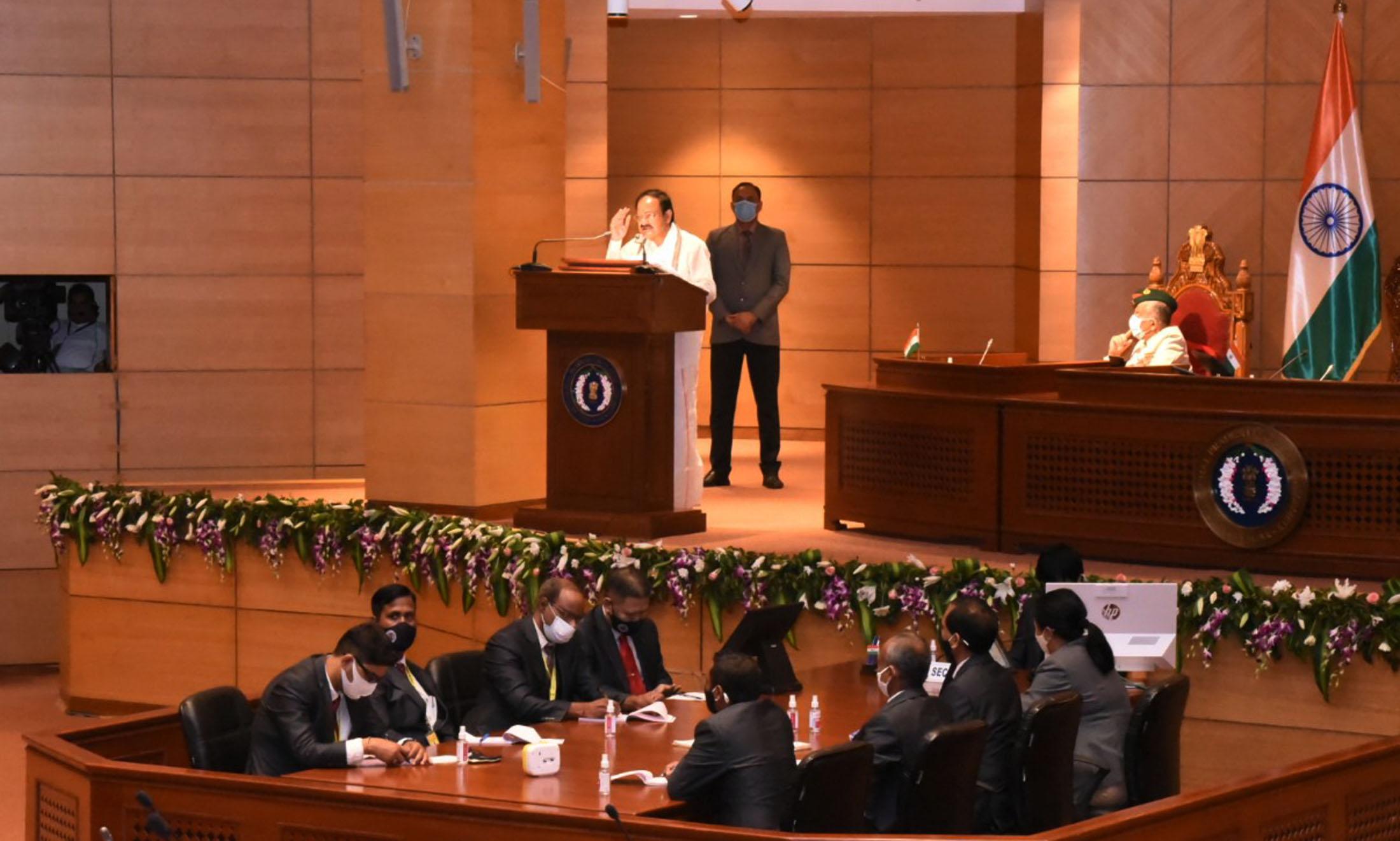 उपराष्ट्रपति वेंकैया नायडू ने अरुणाचल प्रदेश विधानसभा के विशेष सत्र को संबोधित किया