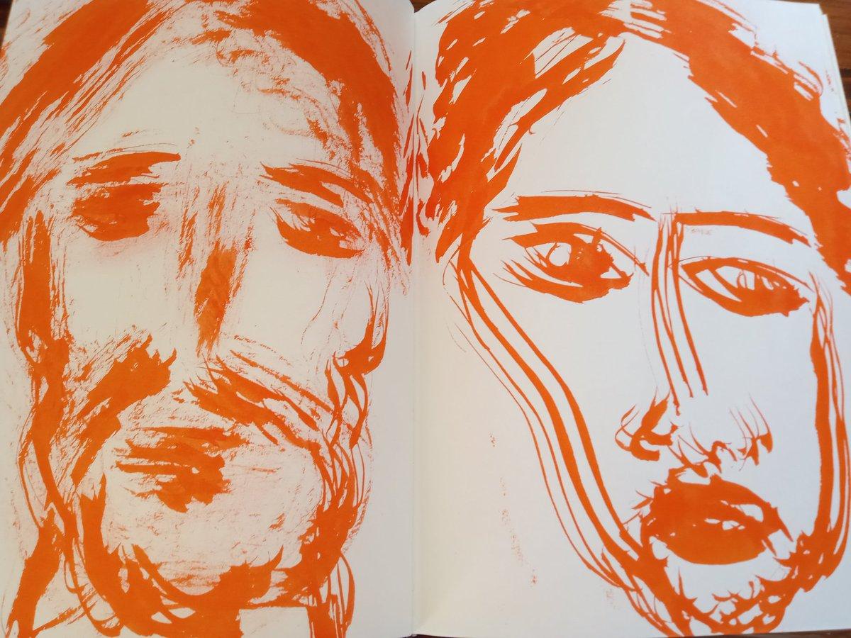 Yazılı günlüklere eşlik eden çizimler. ink on sketchbook by imrentuzun