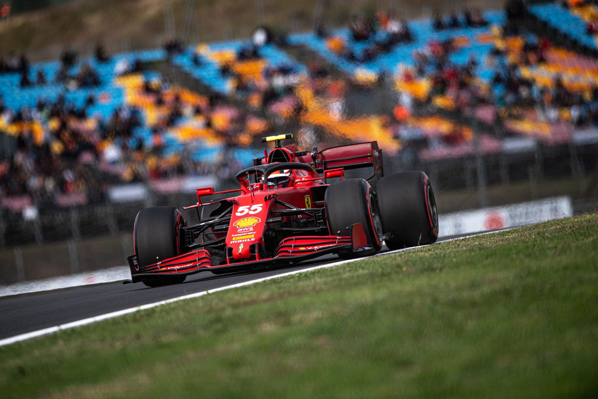 """F1   GP Turchia 2021- Qualifiche Ferrari, Sainz: """"Siamo pronti a combattere"""""""