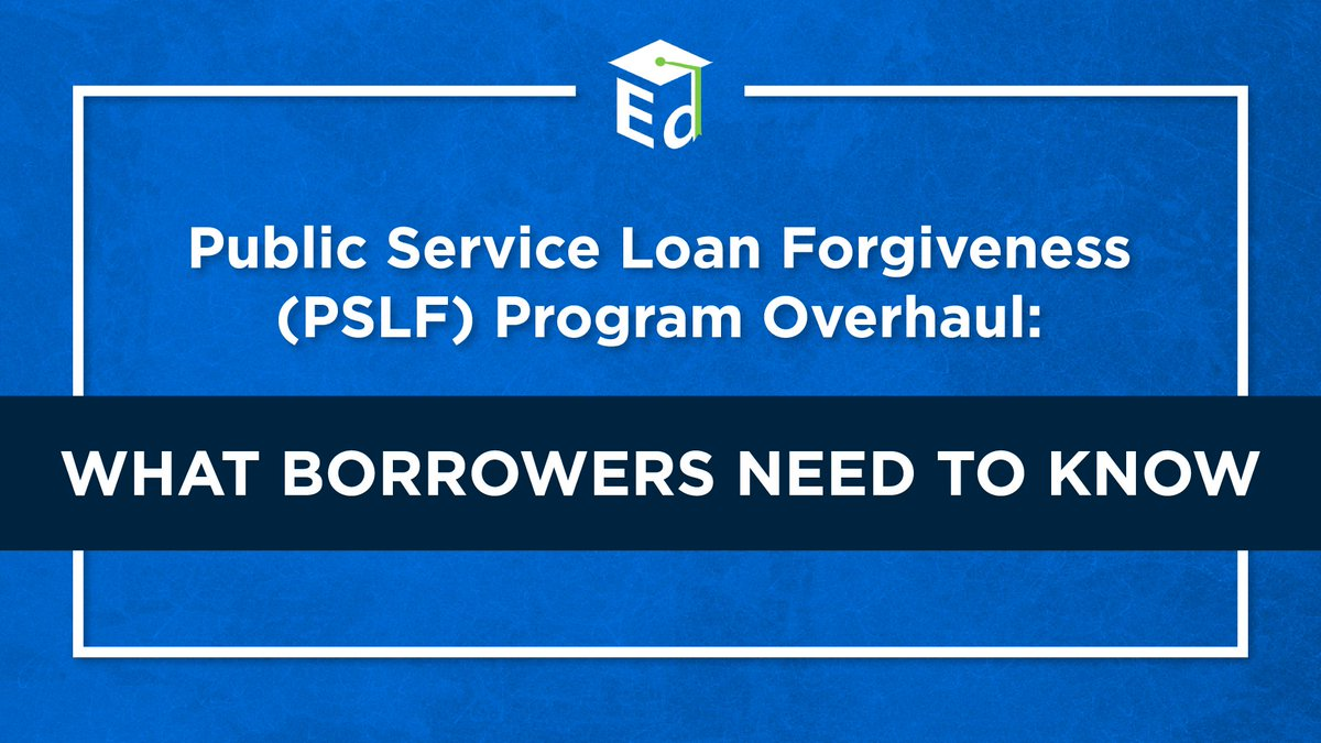 .@usedgov's overhaul of the #PSLF program has already filled inboxes with good news – and its changes could benefit a public servant you know too. This thread helps to break down the changes ahead.