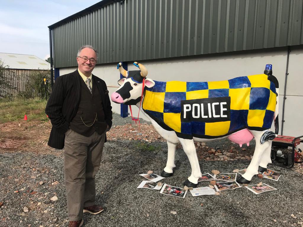 A great day at the rural crime event organised by @LeicsRuralCrime & @NWLeicsPolice with Sterling help from @LeicsCadets. Hugely enjoyable and informative day. Thank you to all involved.
