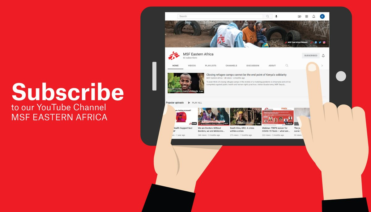 To stay up to date with our latest videos from the major humanitarian crises that we are responding to, with stories from our patients and staff, make sure to subscribe to MSF Eastern Africa YouTube channel by clicking the link below. Subscribe now: youtube.com/c/MSFEasternAf…