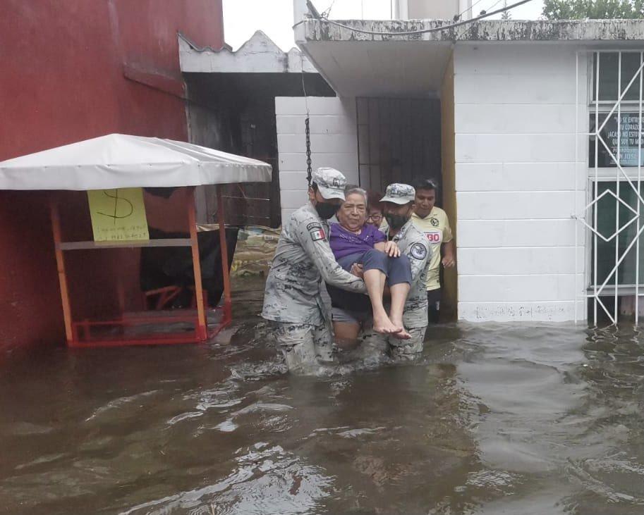 Al menos 10 municipios de Veracruz reportan lugares afectados por lluvias