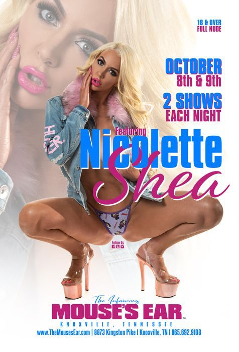 It's the last night to catch the HOT AS HELL @nicolette_shea performing LIVE! #SheaSquad, come watch the Queen do what she does best!  . . . #Glamazon #ClubShea #BlondBombshell #Perfect #DatAss #TopOnlyFans #Beautiful #MousesEar #Knoxville #StripJoint #MousesEarTN #MousesEarKnox
