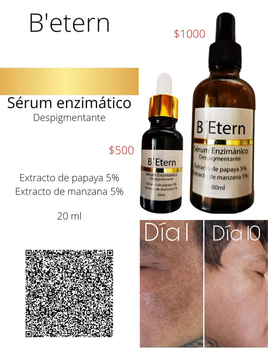 """B'Etern ✨ Suero Despigmentante !! Usa mi código """"SinaLatina"""" obtén el 10% en tu primera compra!"""