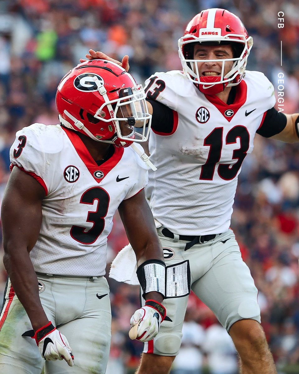 'Georgia was last No. 1 in the AP or coaches poll in 2008, and that was for one week, the preseason poll.'   'That drought should end with Sunday's polls.'  ✍️ @SethWEmerson  📚 bit.ly/3Ds9MSQ