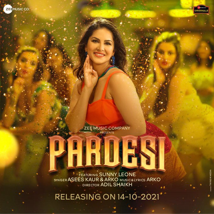 Get ready for the release of the hottest single of the year! #Pardesi RELEASING ON 14.10.2021 . . #ZeeMusicOriginal