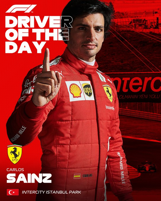 Gran remontada de Carlos Sainz quien acabó en la carrera de Turquia siendo el piloto del día / Pasen vean y disfruten...