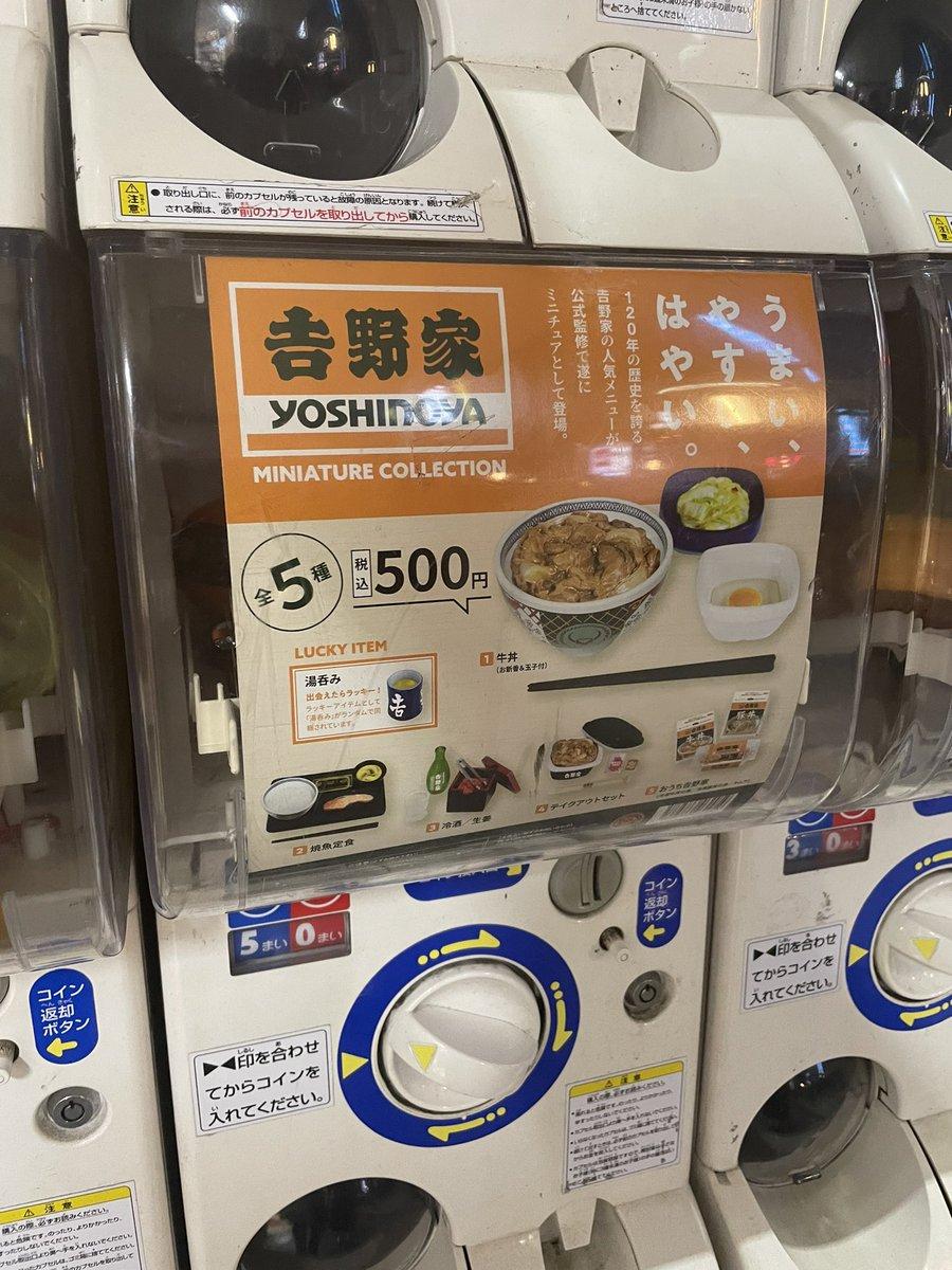 本物よりも高い?吉野家のガチャガチャの価格!