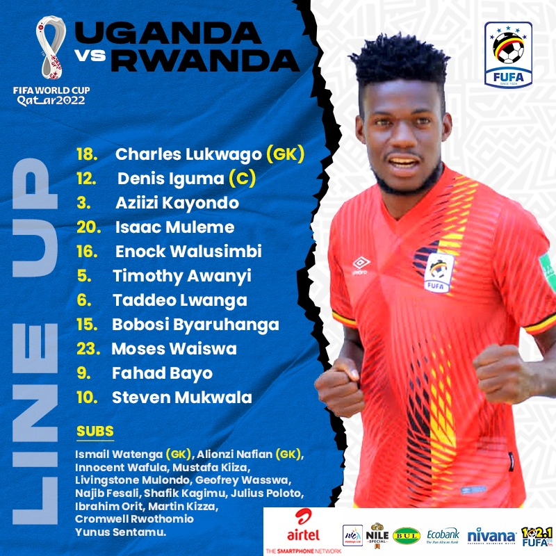 I would like to wish the @UgandaCranes team good luck ahead of the home game with Rwanda's Amavubi stars. Let us build on our previous victory in this fixture. Don't panic. Don't play under any pressure, position very well during corner kicks. Ugandans are proud of you!