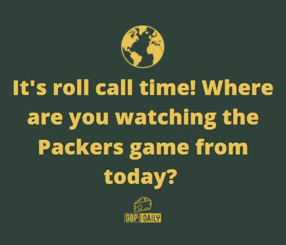 Packer fans, what city are you watching the game from today? 🤔🌎  #RollCall #GoPackGo