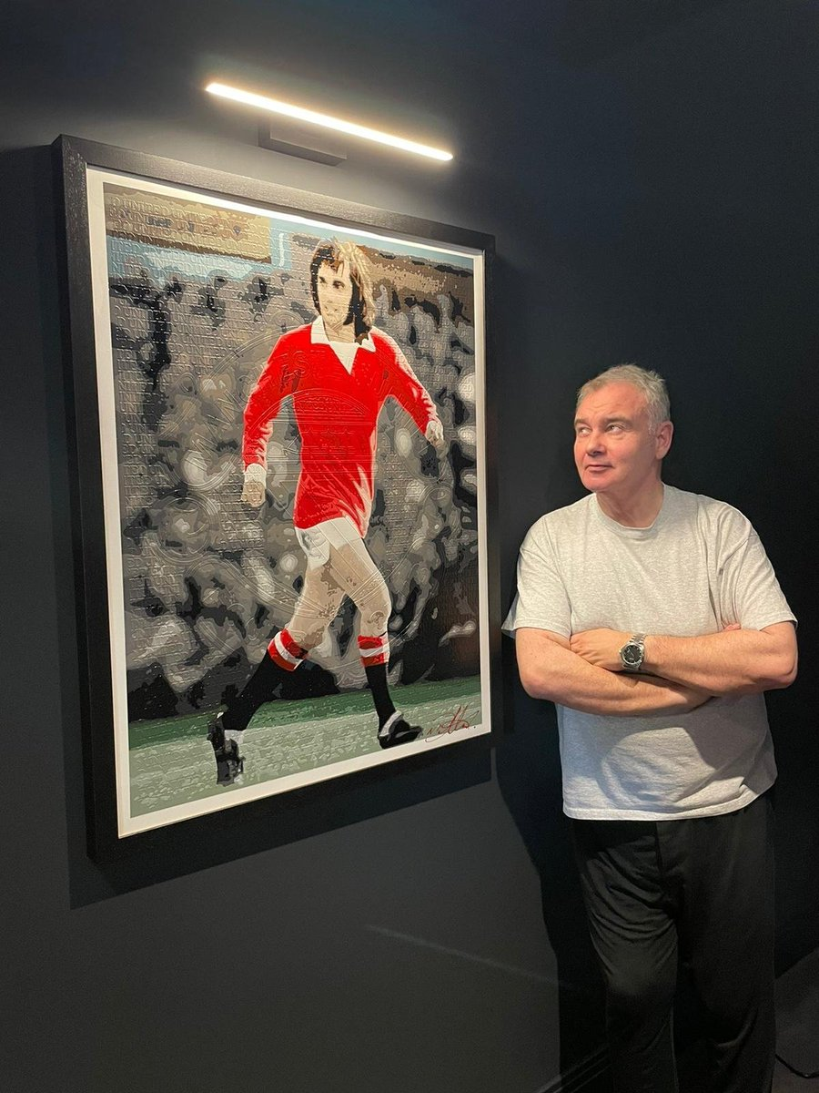 Hung some artwork today. Georgie - they called him #TheBelfastBoy . #Hero #Icon #ManchesterUnited My latest acquisition by @nickdillonart