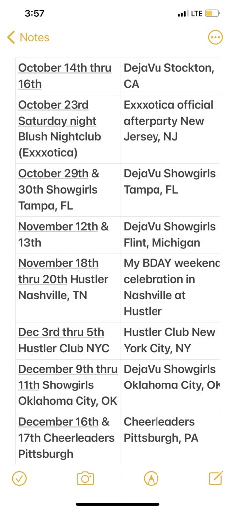 Upcoming shows! Onlyfans.com/nicolettesheas…
